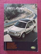 LAND ROVER FREELANDER 2 (2008 - 2010) USER MANUAL - GUIDE - HANDBOOK (LR 106)