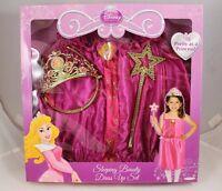 Sleeping Beauty Dress Up Set Fits Sizes 4-6X Disney Princess Tiara Wand Ages 3+