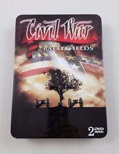 Guerra Civil Battlefields 2DVD Box Set Gettysburg Educativo Coleccionistas Lata