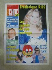 AFFICHE PROMO PUBLI CHOC 134/94 JOHNNY HALLYDAY RIES