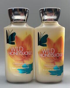 Bath & Body Works Wild Honeysuckle Lotion-2 Pack *Misprint Back Piece*