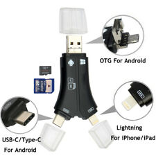 SD/TF Card Reader Adapter Lightning/Micro USB i-Flash Drive For Android iPhone X