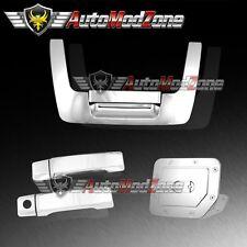 Fit 04-12 Nissan Titan Chrome 2 Door Handle + Tailgate + Gas Door Cover Combo