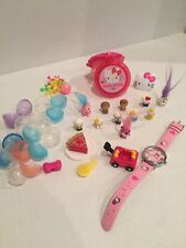 Blip Toys Squinkies Tiny Hello Kitty Lot Of 11 Figures Characters Lot Watch Hair