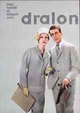 DRALON CLOTHINGS Fashion Vintage 1961 Swiss advertising poster 36x51 NM