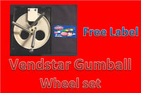 "Vendstar Vending Machine 1"" Gumball Wheel Sets With FREE LABELS"