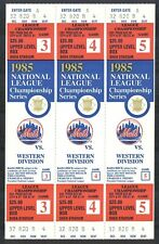 1985 NEW YORK METS SHEA STADIUM NLCS PHANTOM TICKETS {Full Block of 3} Upper Lev