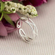 925 Sterling Silver plating Solid fashion jewelry Ring Wholesale SIZE OPEN J23