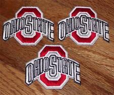 "3x NEW Ohio State University OSU Buckeyes Logo Patch 2.7"" Polo Shirt Size *R3"