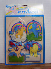 My little Pony 4 Name Tags Party Favors 1984 Hasbro Vintage G1 New!!