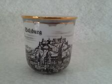 Cesky Dubi Porcelan Coffee Cup/ Mug  Salzburg made in Czechoslovakia Gold Rim