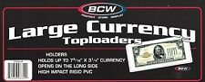 15 Large Dollar Bill Toploader Rigid Plastic Currency Holders Money Protector