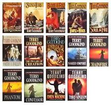 Terry Goodkind Espada de la verdad serie 14 libro conjunto del libro en rústica
