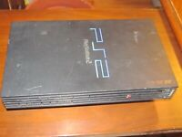 Sony Playstation 2 SCPH-39001 Black w Expansion Bay FOR PARTS CONSOLE ONLY