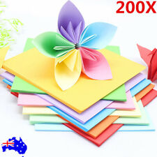 200 Sheets 10 Colors Origami Square Paper Craft Folding 15x15cm Double Sided AU
