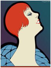 "11x14""Decoration Poster.Interior room design art.Fashion Redhead pinup.6600"