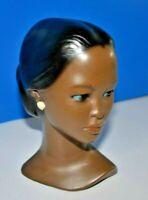 Vintage Polynesian Hawaiian Lady Head Bust Ceramic Not Marked Beautiful