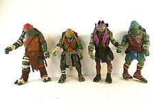 """TMNT Teenage Mutant Ninja Turtles 5"""" 2014 Set of 4 Loose Action Figures Comic"""