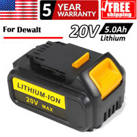 For Dewalt DCB205 DCB204 DCB180 Battery Max Lithium Ion XR 20V 20 Volt  5.0Ah