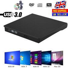 USB3.0 External DVD RW Drive CD Player Rewriter Burner Reader For Mac Laptop PC