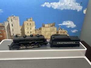TYCO CHATTANOOGA 638 Steam Locomotive w/ tender HO Gauge Tested Working