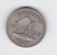 1936 Fiji Silver Shilling Coin  T-433