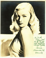 Veronica Lake Authentic Signed Sepia 8x10 Photo Autographed BAS #A84972