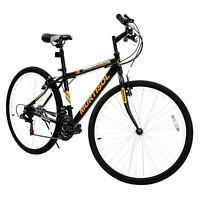 26'' Mountain Bike 18 Speed Front Suspension Bicycles Shimano Hybrid Bike Black