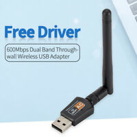 2.4/5GHz USB Rete Wifi Scheda 600Mbps 11AC Dual Band Wireless Ricevitore Dongle