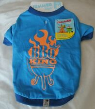 """Dogs Outfit BBQ King Medium - fit 12"""" Dog T Shirt/Vest"""