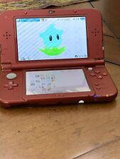 New Nintendo 3DS XL RED (TOP IPS SCREEN) (LUMA3DS CFW INSTALLED) (64gb SD)