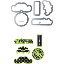 Sizzix Echo Park Framelits Die Cutting Template & Clear Acrylic Stamp Set