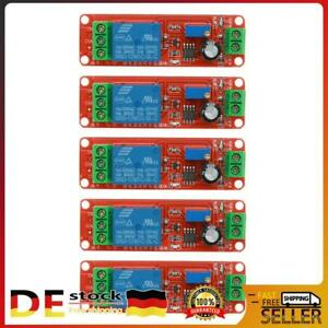 5x DC12V Zeitrelais Timing Timer Delay Relay Einstellbare Modul Trigger Schalter