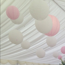10x 30cm white pink paper lanterns wedding party baby shower venue decoration