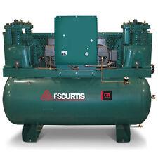 FS-Curtis CA7.5 7.5-HP / 15-HP 120-Gallon Two-Stage Duplex Air Compressor