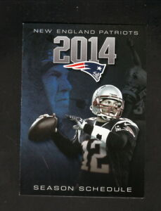 New England Patriots--Tom Brady--2014 Pocket Schedule--Bud Light