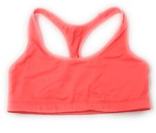 Victoria's Secret PINK Yoga Bra Bralette Racerback Orange Small Stained