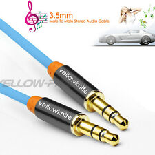 Premium 2M Blue Gold Tipped Aux Cable Stereo Audio 3.5mm Input Cord Male to Male