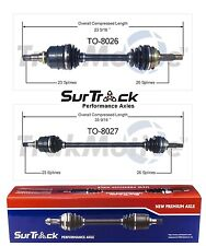 Toyota Corolla Chevy Nova FWD Pair of Front CV Axle Shaft Assies SurTrack Set