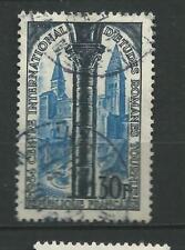N° 986 église st philibert à Tournusi 30 f bleu noir année 1954 oblitéré