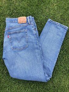 Vintage Levis 501 Classic Jeans Size W30 True Straight Denim Regular Slim Blue