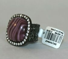 NEW LOFT STRETCH STONE RING WITH DIAMONDS: GOLD- SIZE, ANY