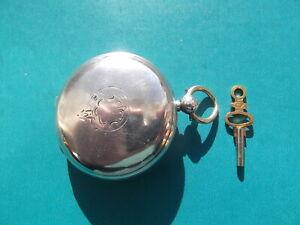 Solid Silver Full Hunter Waltham Pocket Watch Circa 1884