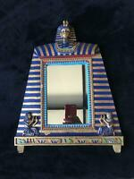 Vintage Egyptian 1970's King Tut Hang or Freestanding Mirror $49.99