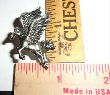 vintage Pegasus pin collectible old mythical fantasy winged horse pinback