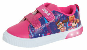 Girls Paw Patrol Light Up Trainers Kids Skye Flashing Lights Sports Shoes Pumps