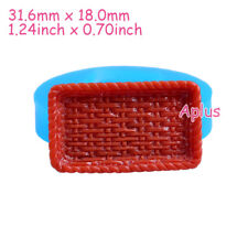 FFiEB641 31.6mm Plate Silicone Mold Polymer Clay Resin Cake Craft Dollhouse Food