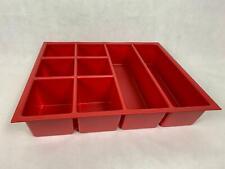 Kleinteilemagazin, Lagerbox, Einsatz, Schubladeneinsatz - 540mm x 470mm x 115 mm