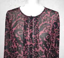 Ann Taylor Loft Size S Sheer Long Sleeve Top Blouse
