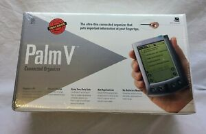 Vintage Palm V organizer Brand New Sealed unit charger stylus included